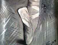 """""""Adagio"""" acrylic on canvas A3"""