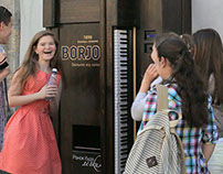 Borjomi piano vending machine