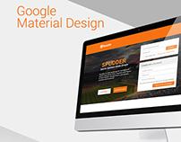Sports News Website Material Design + Free Psd
