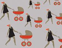The stereotype gender illustrations