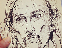 Sketches of true detective characters