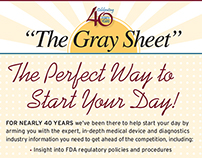"""""""The Gray Sheet"""" Promotional"""