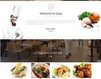 SJ Zaga - Restaurant Onepage Joomla Template
