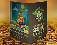 School Pocket Folder Design Template [Free PSD]