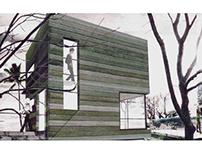 Casa Cubo em madeira - Montevideu, Uy.