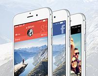 Carde App iOS 8 UI/UX & Promo Website