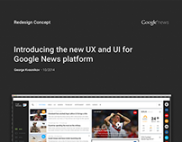 Functional and visual redesign of Google News