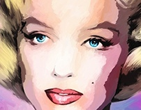Marilyn Monroe Large Size Portrait