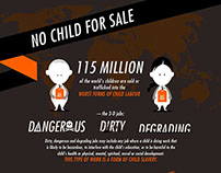 WorldVision: No Child For Sale Static Infographic