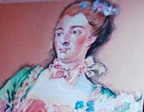 reproduction after Marquise de Pompadour