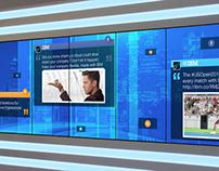 Video Wall Social Media Application
