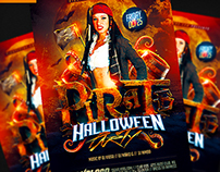 Pirate Party Flyer Template PSD