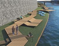 modular system for a city embankment