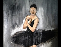 """""""Allegro"""" Acrylic painting on canvas (A3)"""