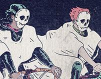 "TALLOWEEN ""2014 Bike Race Poster"""