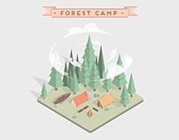 FOREST CAMP // MOTION DESIGN 3D & 2D