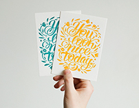 Letterpress Postcard You look nice today