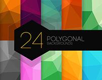 24 Polygonal Backgrounds