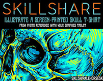 Illustrate A Screen-Printed Skull: SkillShare Class