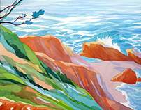 2nd place prize at Lost Coast Plein air Paintout
