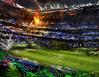 Stadium Apocalypse Matte Painting