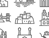 World heritage sites of Iran - Icons