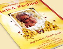 Light of Life Funeral Program Template