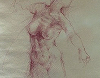 Sketch on prepared paper
