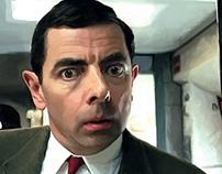 Rowan Atkinson as Mr. Bean Large Size Portrait