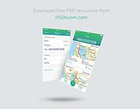 Free UI screen mock-up psd