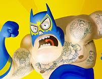 BatMacho - Projeto Liga da Justiça - Luchadores