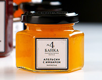 Packaging for natural  marmalade