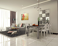 Grey and White apartment