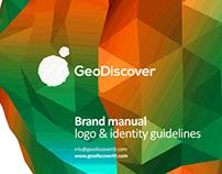 GeoDiscover: logo design, identity design, brand manual