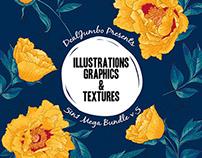 Mega Bundle: Illustrations, Graphics & Textures