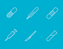 Health care themed icons FREE EPS