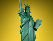 LOW POLY STATUES