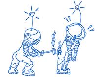 Sector Illustrations for Rocket