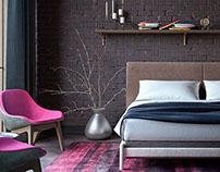 Glamor Loft | Moscow bedroom