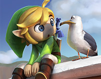 Toon Link . Super Smash Bros Tribute