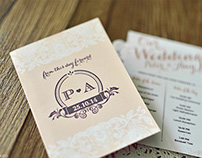 P+A Wedding Stationary