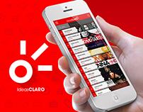 Redesigned app IdeasClaro