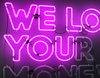 We love you(r money) pink version