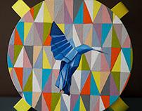 "tabouret ""Blue bird"""