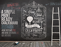 Creativity will Find You–Typography Chalkboard Print #2