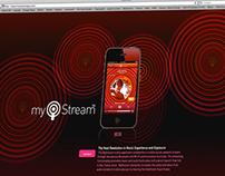 MyStream, APP Design   Microsite