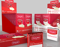 Processed Cheese Danubio - Package and 3D Illustration