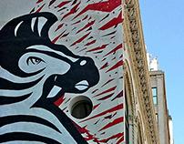 Angry Zebra Mural