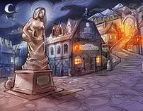 Neverdale Town Square - Concept Art