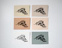 Black Halftone Structural Prints